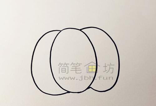 教你画一个又大又圆的南瓜【彩色】(1)