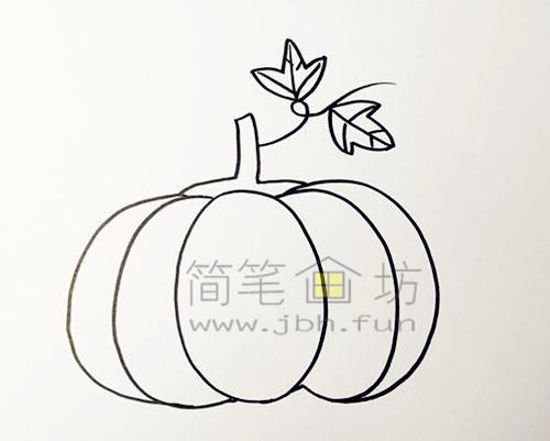教你画一个又大又圆的南瓜【彩色】(3)
