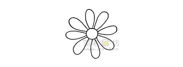菊花简笔画绘画步骤(2)