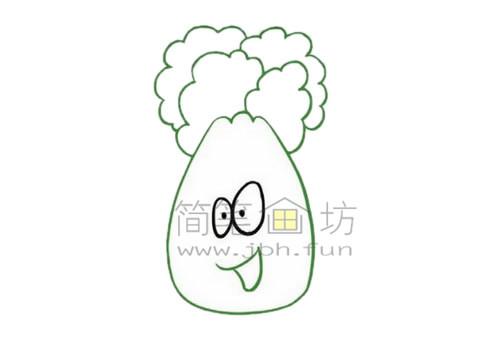 白菜简笔画绘画步骤【彩色】(3)