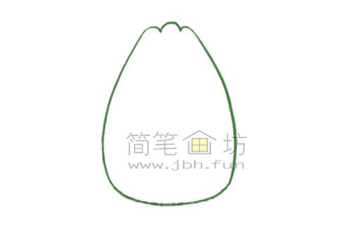 白菜简笔画绘画步骤【彩色】(1)