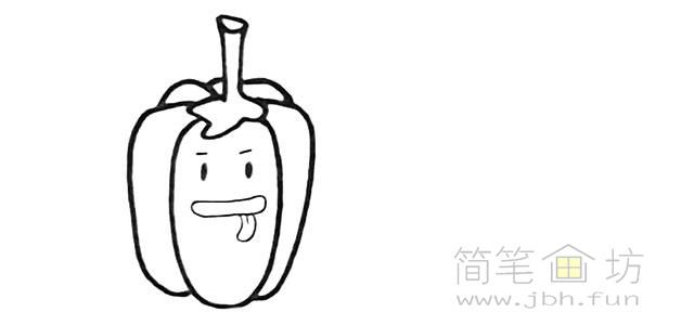 卡通辣椒简笔画步骤图解教程【彩色】(3)