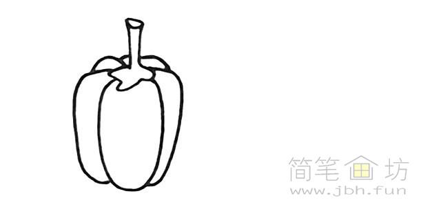 卡通辣椒简笔画步骤图解教程【彩色】(2)