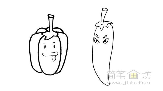 卡通辣椒简笔画步骤图解教程【彩色】(6)