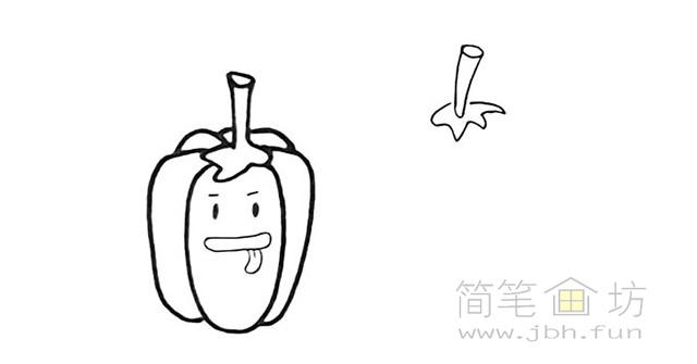 卡通辣椒简笔画步骤图解教程【彩色】(4)