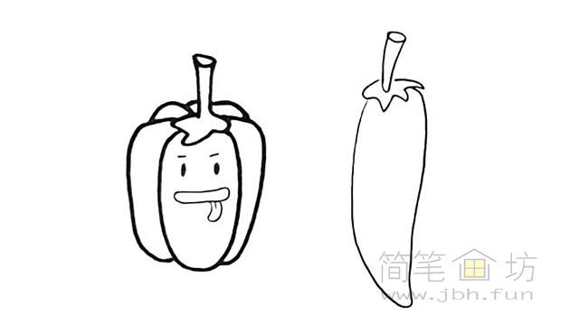 卡通辣椒简笔画步骤图解教程【彩色】(5)