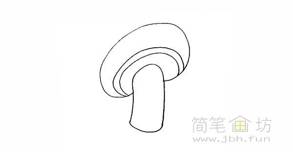 卡通蘑菇简笔画步骤图解教程【彩色】(3)