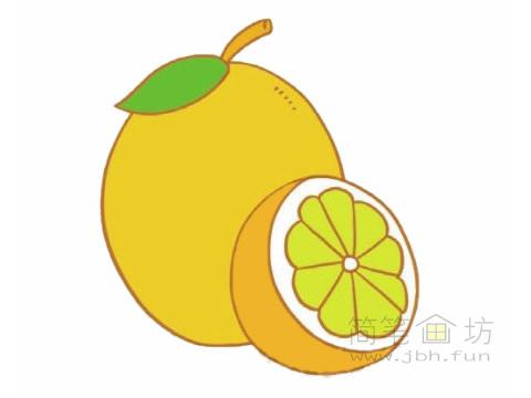 卡通柠檬简笔画的画法及图片大全【彩色】(1)