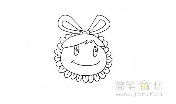 卡通向日葵简笔画彩色画法【彩色】(8)