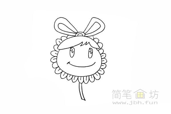 卡通向日葵简笔画彩色画法【彩色】(9)