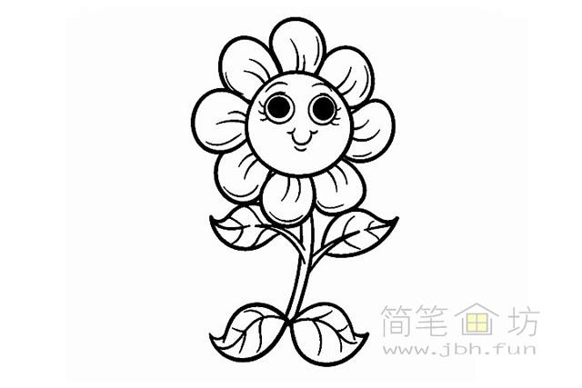 卡通向日葵简笔画图片素材(1)