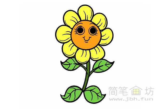 卡通向日葵简笔画图片素材(2)